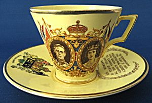 Royal Winton George VI Visit US Canada Cup And Saucer 1939 Grimwades (Image1)