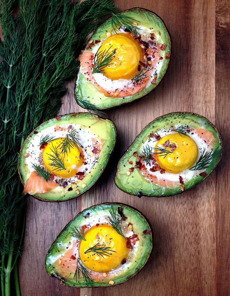 Smoked Salmon Egg Stuffed Avocado
