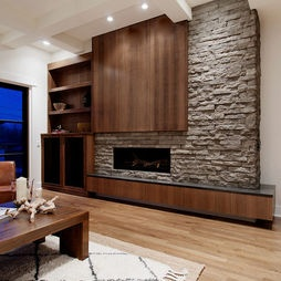Modern fireplace by Veranda Estate Homes & Interiors (Houzz.com)