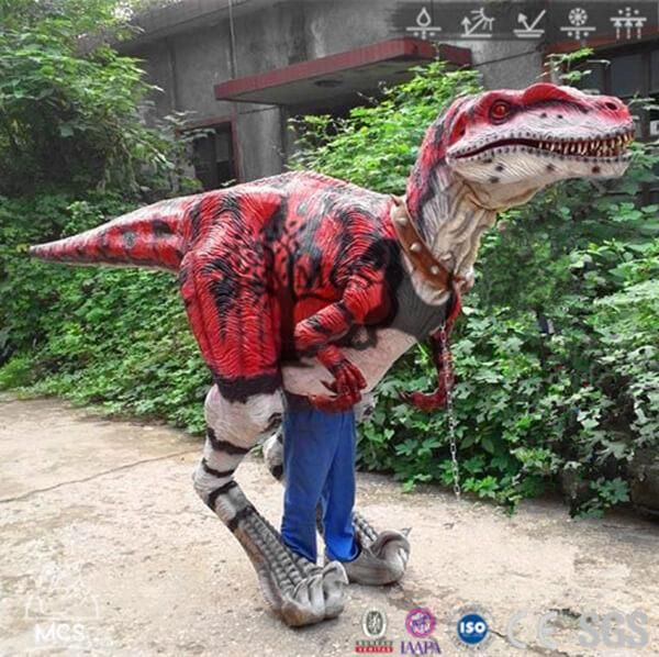 Red Raptor Dinosaur Suit-DCRP715
