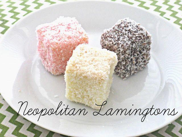 Vintage Movement: Neopolitan Lamington Recipe