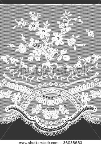 Floral Lace Pattern In Vector - 36038683 : Shutterstock