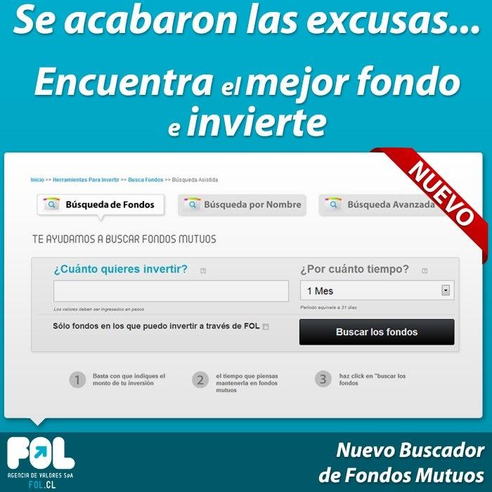 Se acabaron las escusas, encuentra el mejor fondo e invierte en www.fol.cl