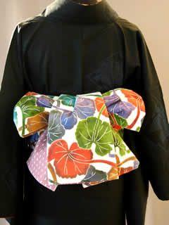 帯結び・飾り帯■半巾帯の結び方 ■■リボン結び(三春太鼓)■こだわりの手しごと-三春