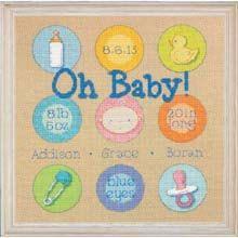 Cross Stitch Kit  Baby Dots Birth Record by CrossStitchKitsOnly, $15.00