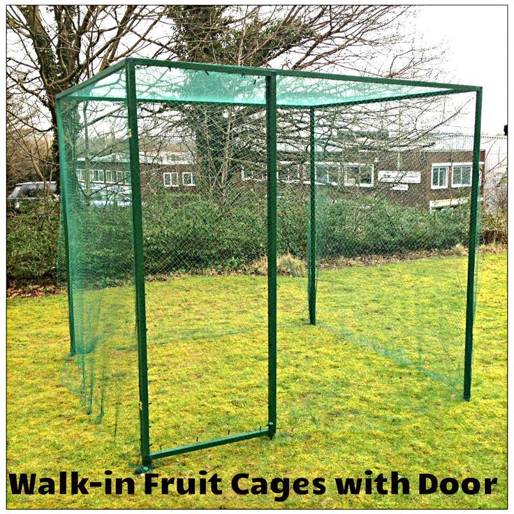 GardenSkill Walk In Fruit Cages With DOOR Kit (Included 7mm Butterfly  Netting Or 20mm