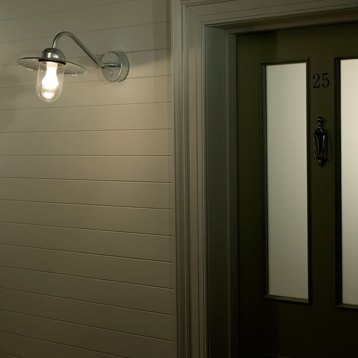 Buy Nordlux Luxembourg Outdoor Wall Light with PIR Sensor, Galvanised Steel online at JohnLewis.com - John Lewis