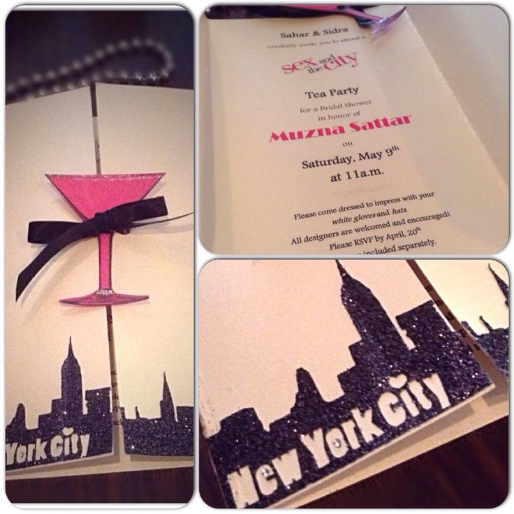 SEX in the CITY Themed Invitations for Birthday Party - Xmas - Bachelorette Party- Wedding Shower- Lingerie Shower~with matching envelops by OneChelleOfAMug on Etsy https://www.etsy.com/listing/227563843/sex-in-the-city-themed-invitations-for