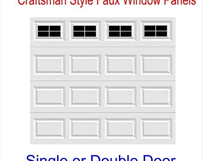 Craftsman Style Faux Garage Door Windows Vinyl Decals No Faux Hardware Included Garage Craftsman Decals Garagentor Fenster Garagentore Garagentor