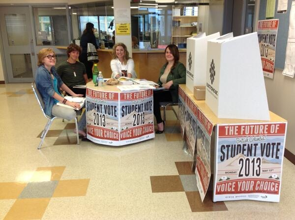 The Student Vote team at Langley Education Centre.