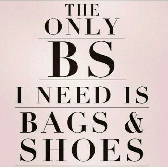 The ONLY BS you need is bags & shoes! rebeccaminkoff.com