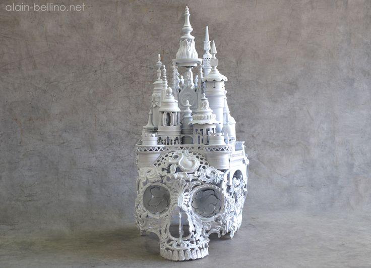 Alain Bellino : Vie de château Bronze skull. http://www.alain-bellino.net/galleries/20/images