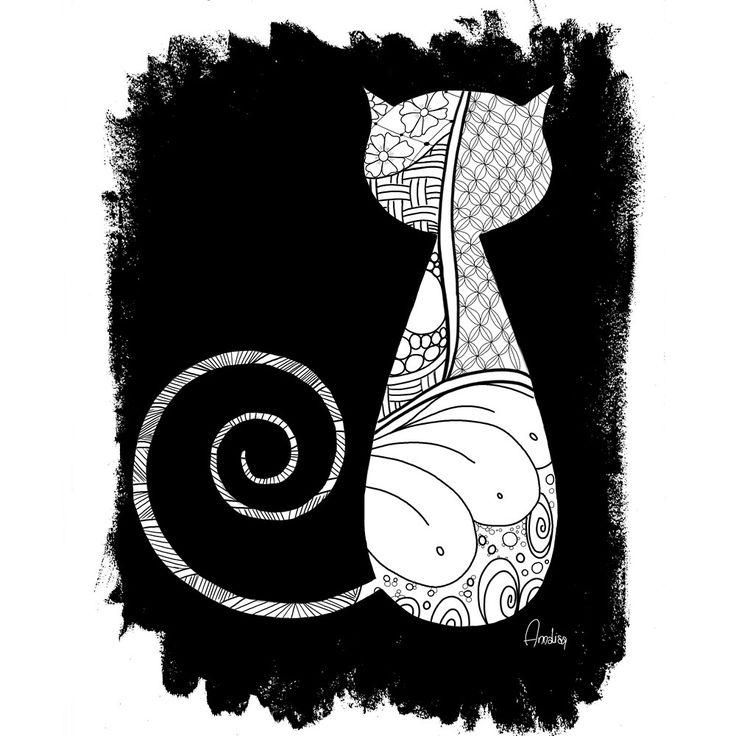 The Zentangle Cat by Annalisa Amato