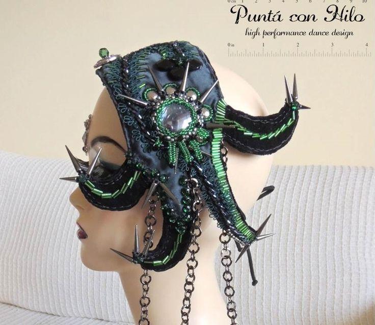 Gothic Bellydance Headband. https://www.facebook.com/puntaconhilodesign