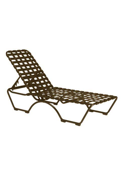 Kahana Cross Strap Chaise Lounge | Tropitone