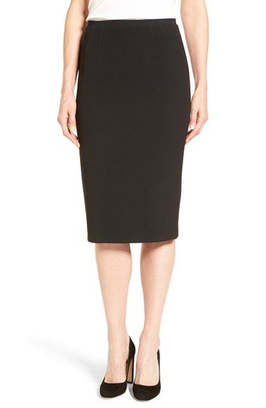 Free shipping and returns on Elie Tahari 'Beatrice' Pencil Skirt at Nordstrom.com. A slender grosgrain ribbon wraps the darted waist atop a slim-fitting skirt infused with stretch comfort and eased with a back slit.