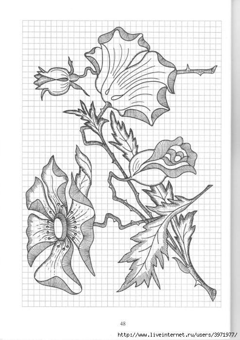 Gallery.ru / Фото #136 - Рисунки для вышивки гладью, лентами и ришелье-3 - Vladikana