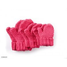 Warm mittens are the perfect pattern to make for those in need. Easily stitched in Caron One Pound yarn, one ball makes up to eight pairs of mittens!   Yarnspirations  Free Easy Gloves Crochet Pattern