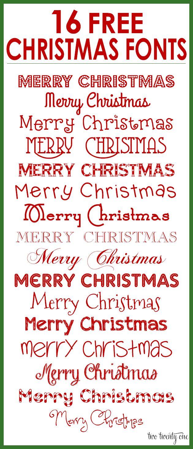 16 FREE Christmas Fonts!