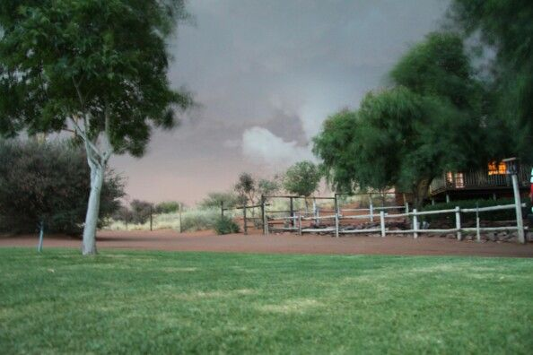 Thunderclouds gather in Upington, Northern Cape, SA