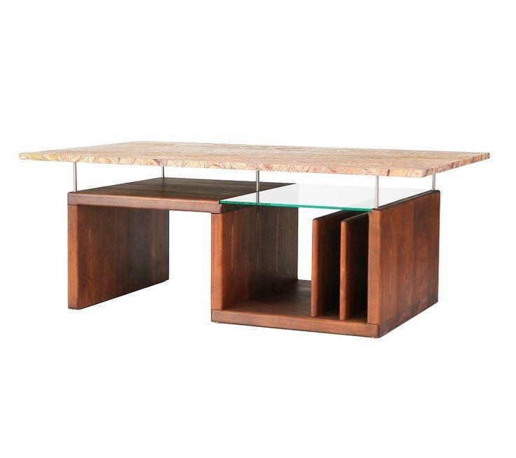 GroB Couchtische In Trendigem Und Stylischen Design Kombiniert Aus Holz,  Glas Und Stein Maßanfertigung
