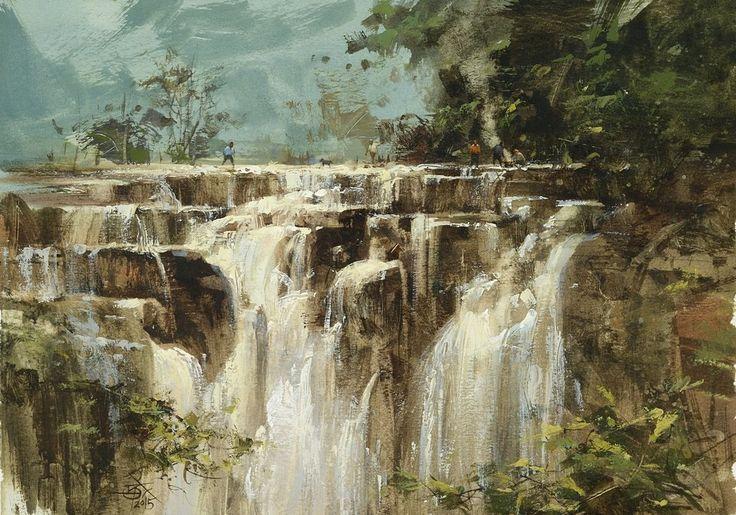 Chien Chung Wei 011 十分瀑布 18.6 x 26.5 cm (16開)