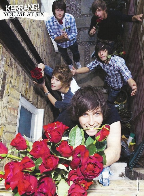 Woke up in the morning, opened the window and saw THIS :)  You Me At Six oh my God they're so cute <3