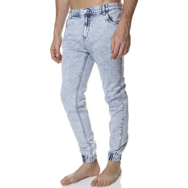 Afends The Call Denim Beach Pant Blue Cotton ($45) ❤ liked on Polyvore featuring men's fashion, men's clothing, men's pants, men's casual pants, blue, men, mens chino pants, pants, mens beach pants and mens chinos pants