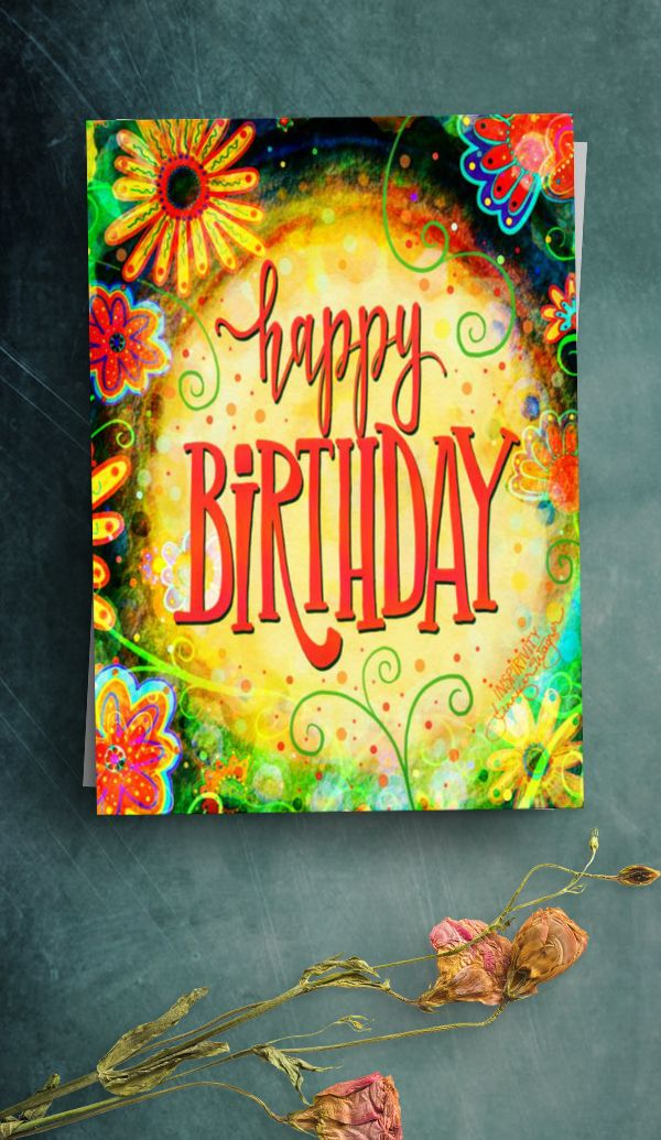 Create Your Own Folded Greeting Card Zazzle Com Happy Birthday Cards Printable Birthday Card Printable Birthday Cards