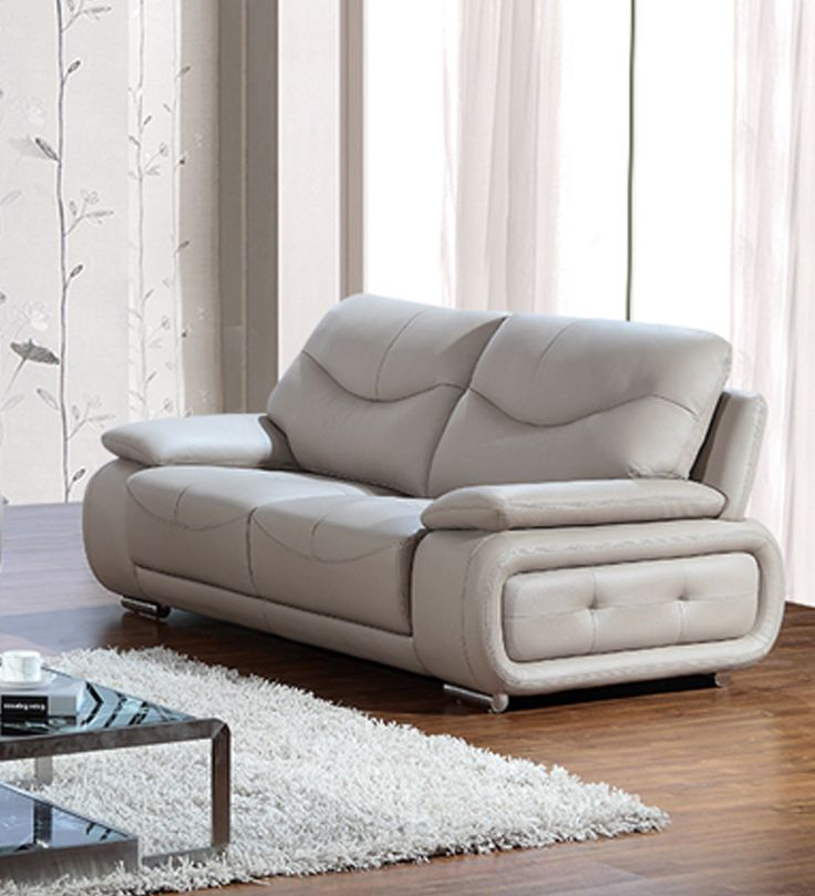 Slightly Tilted Back With Adequate Lumbar Support Makes The Sofa  Ergonomically Suitable Legs Gives It An Elegant Look. High Performance Foam  For Luxury ...