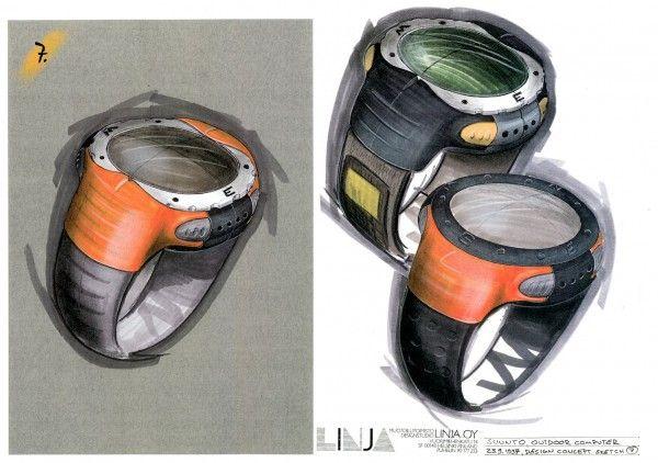 Linja Design Oy: Rannetietokone Outdoor Computer. Suunto (1997)