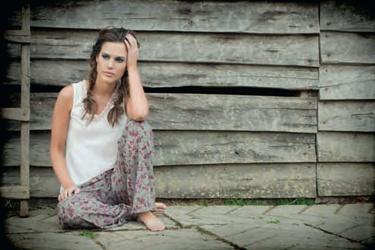 Pijama en pantalón largo y camisa manga sisa