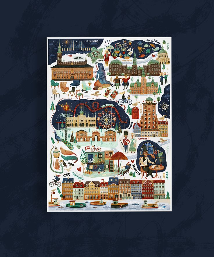 Copenhagen map on Behance