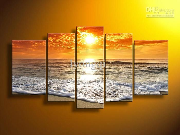 Hand-painted Hi-Q Modern Wall Art Home Decorative Landscape Paintings | Buy Wholesale On Line Direct from China