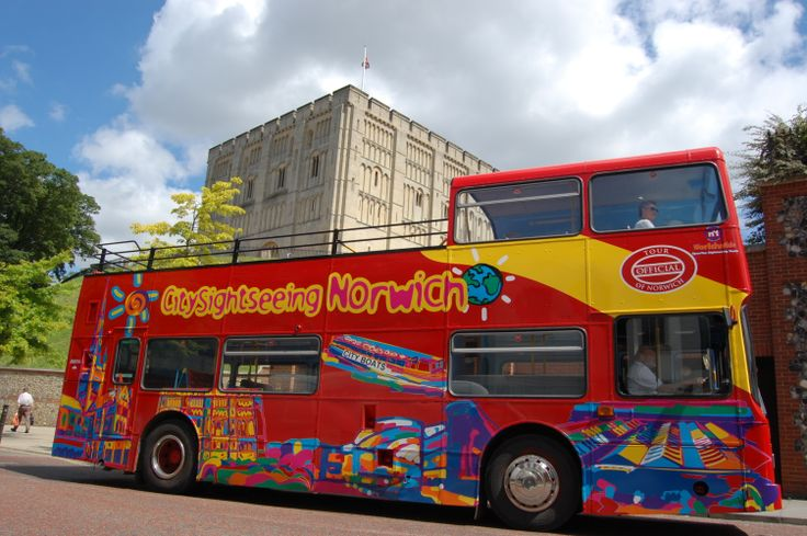 City Sightseeing Bus tour of Norwich