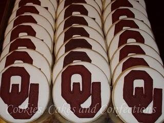 Oklahoma Sooner cookies!
