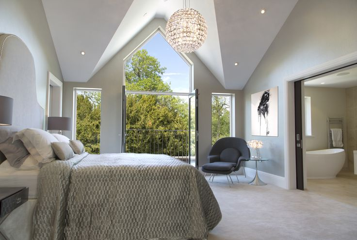 Master Bedroom at Bollin house, by Hunter and Belle interiors (currently for sale)