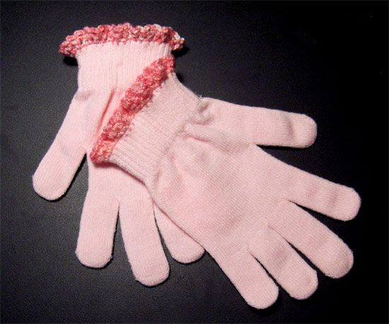 Edging is the Icing pattern crochet Pinterest Gloves, The ojays ...