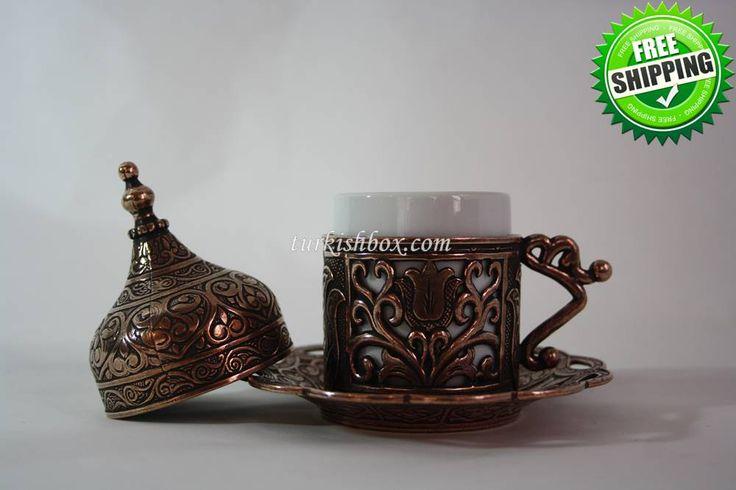 Turkish Coffee Cup   Tulip - Copper - http://turkishbox.com/product/turkish-coffee-cup-tulip-copper/  #turkishtowels #peshtemals #turkishproducts