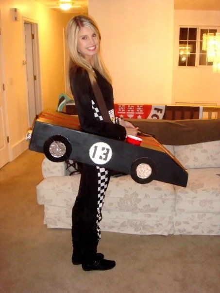 Diy Halloween Costume Race Car Driver With Cup Holder