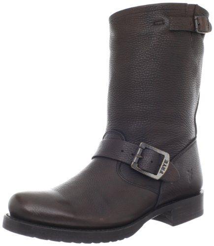 Ankle Boots women's fashion FRYE Women's Veronica Short Boot,Dark Brown Vintage Tumbled Full Grain,8 B (M) US FRYE