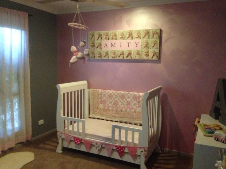 Our Gidget's nursery...all done and dusted and now with her big girl bed!! #girlsroom #biggirlbed #nursery