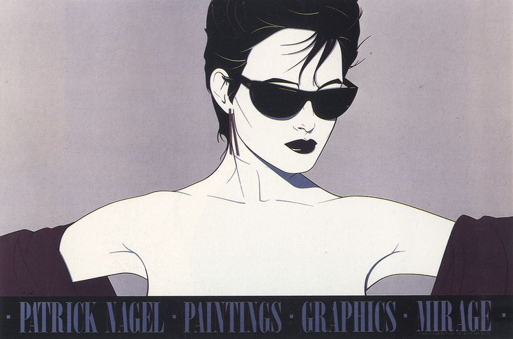 patrick nagel | My favorite pop artist of the 1980's and had this portrait in my living room for years back then (some say I looked like her);