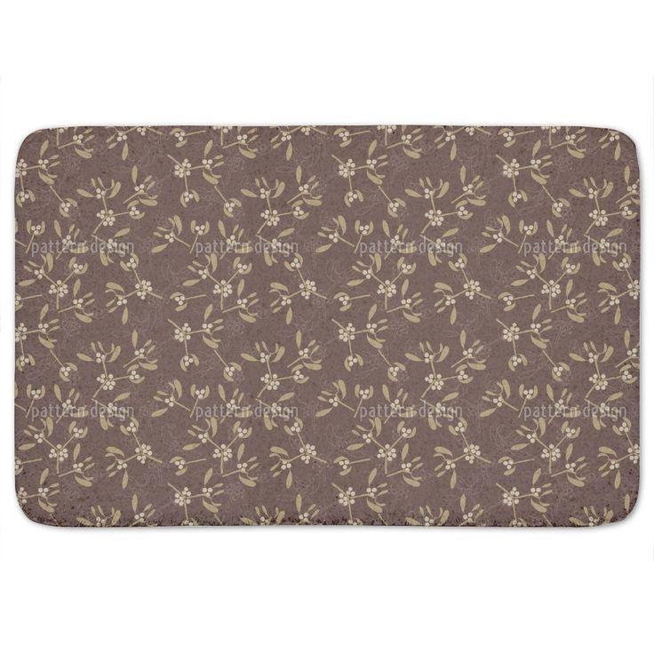 Mistletoe Brown Bath Mat By Uneekee