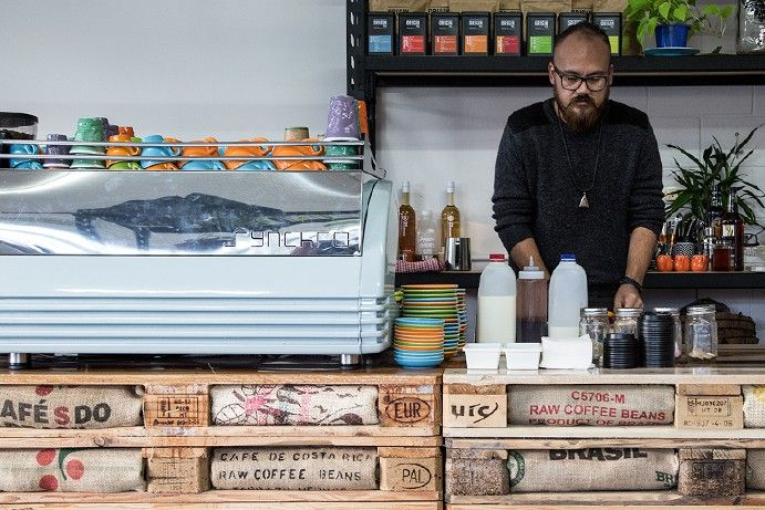 The best hidden coffee spots on the Sunshine Coast include the Pallet Espresso Bar at Mooloolaba #thisisqueensland
