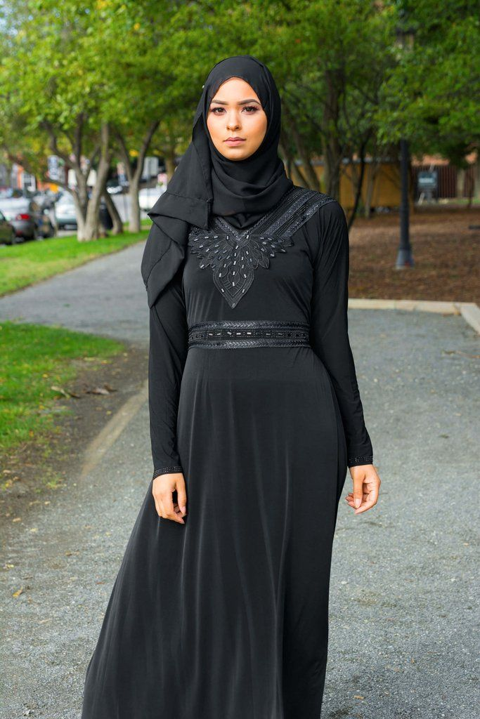 Lotus Black Dress Abaya – Little Black Abaya