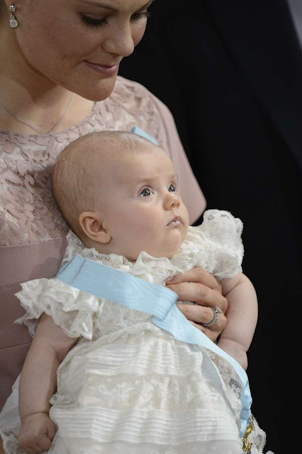Princess Estelle ...future queen of Sweden. So cute to have a sash on her dress order of the seraphim