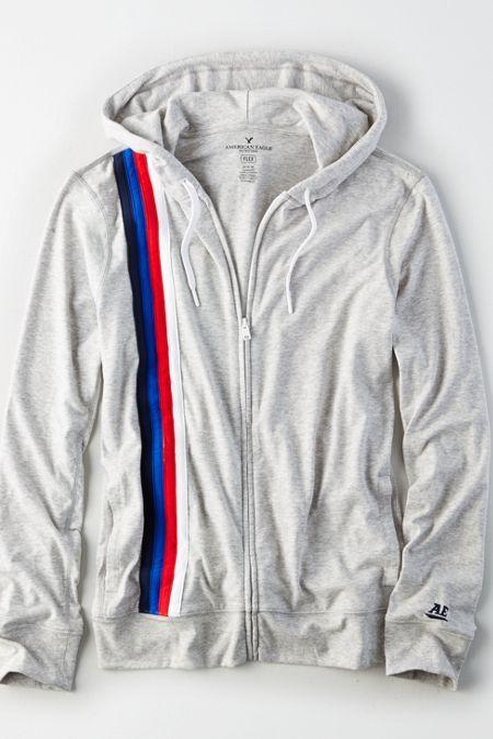 AE Flex Stripe Zip-Up Hoodie