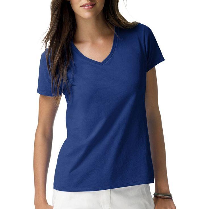 【楽天市場】ヘインズ レディース ライトウエイト ショートスリーブ Vネック Tシャツ ディープローヤル Hanes Women's Lightweight Short Sleeve V-neck T-Shirt Deep Royal:アイディーリ輸入雑貨専門店