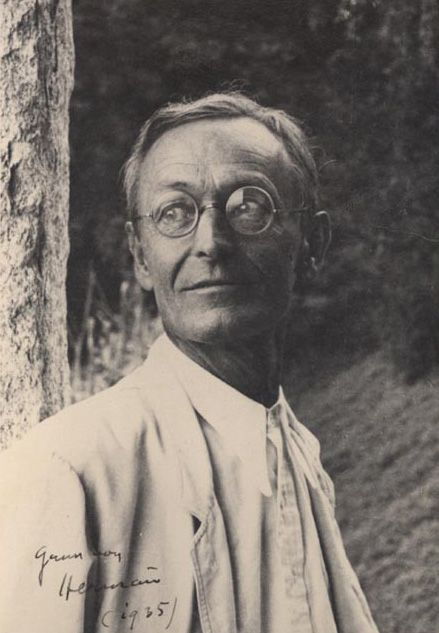 "Hermann Hesse (July 2, 1877 – August 9, 1962) was a poet, novelist, and painter. His best-known works include Steppenwolf, Siddhartha, and The Glass Bead Game, each  explores the search for authenticity, self-knowledge & spirituality. In 1946, he received the Nobel Prize in Literature.  ""Every man is more than just himself; he also represents the unique, the very special and always significant and remarkable point at which the world's phenomena intersect, only once in this way, and never…"